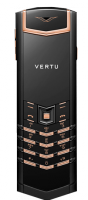 Vertu Signature S Design Pure Black Red Gold