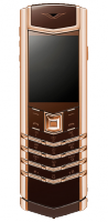 Vertu Signature S Design Red Gold Brown Leather